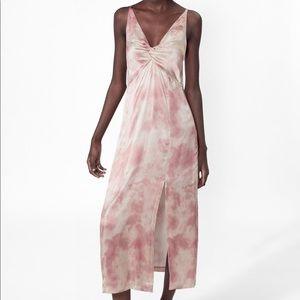 Zara light pink tie dye dress. NWT